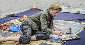 伦敦街艺术家 免版税库存照片