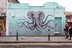 伦敦街艺术 免版税库存照片