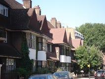 伦敦街道在夏天在英国 免版税库存照片