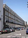 伦敦街道在夏天在英国 免版税库存图片