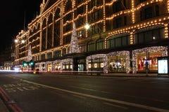 伦敦街道夜 库存照片