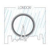 伦敦被隔绝的地平线  免版税图库摄影