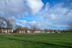 伦敦西哈姆公园在秋天 免版税图库摄影