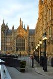 伦敦议会透视图威斯敏斯特 图库摄影
