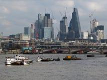 伦敦财政districy伦敦,英国- NThe市 免版税库存照片