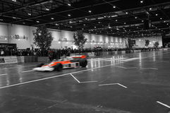 伦敦车展2015年/F1汽车 库存照片