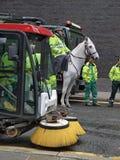 伦敦道路清扫工城市 库存照片