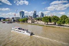 伦敦都市风景从南银行,伦敦的 库存图片