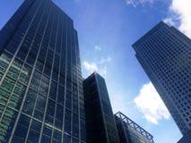 伦敦银行天空 图库摄影