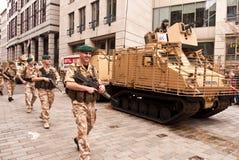 伦敦阁下海军陆战队员s市长显示坦克 库存照片
