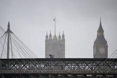 伦敦雨 免版税库存图片