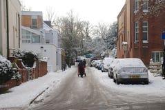 伦敦雪 免版税图库摄影
