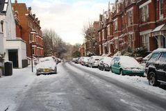 伦敦雪 免版税库存图片