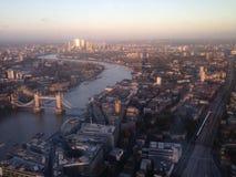伦敦风景塔桥梁 免版税图库摄影