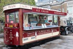 伦敦食物卡车 免版税库存图片