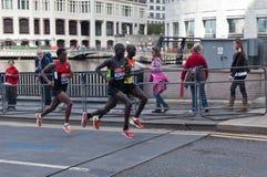 伦敦马拉松2012年- Kipsang, Lilesa, Kirui 免版税库存图片