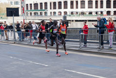 伦敦马拉松2012年- Kipsang, Lilesa, Kirui 免版税库存照片