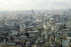 伦敦鸟瞰图城市 免版税库存照片