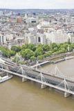 伦敦鸟瞰图  库存照片
