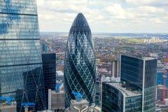 伦敦,企业城市视图 免版税库存图片
