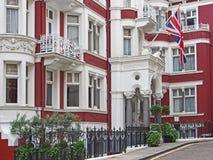 伦敦,典雅的连栋房屋 库存照片