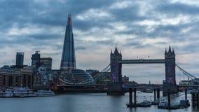 伦敦,塔桥梁,碎片定期流逝 影视素材