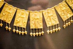 伦敦,大英博物馆 从希腊铜器时代3200-1100的希腊珠宝BC 库存图片