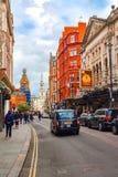 伦敦,大英国的英国:伦敦五颜六色的街道  免版税库存图片