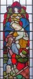 伦敦,大英国- 2017年9月19日:圣约翰福音传教士天使视觉的从默示录的 免版税库存照片