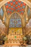 伦敦,大英国- 2017年9月18日:教会圣母无染原罪瞻礼,农厂街道圣所  库存照片