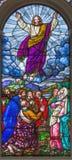 伦敦,大英国- 2017年9月15日:耶稣升天satined杯的圣詹姆斯` s教会, Clerkenwell 免版税图库摄影