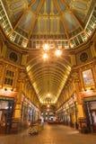 伦敦,大英国- 2017年9月18日:Leadenhall市场画廊在晚上 图库摄影