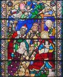 伦敦,大英国- 2017年9月15日:satined杯的三个魔术家圣詹姆斯` s教会, Clerkenwell 免版税库存图片