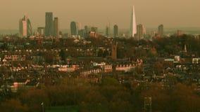 伦敦,有住宅处所的城市 股票录像