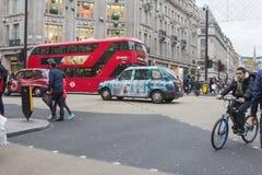 伦敦,牛津街道在节礼日2015年 免版税图库摄影