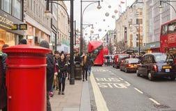 伦敦,牛津街道在节礼日2015年 免版税库存图片