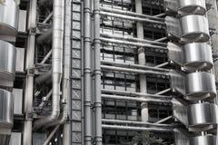 伦敦,现代英国建筑学, Lloyds银行大楼纹理 城市伦敦 库存照片