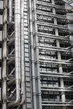 伦敦,现代英国建筑学, Lloyds银行大楼纹理 城市伦敦 库存图片