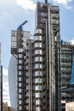 伦敦,现代英国建筑学, Lloyds银行大楼纹理 城市伦敦 免版税库存照片