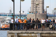 伦敦,英国。2013年9月1日。围绕世界Yac的飞剪机 免版税图库摄影