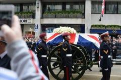 撒切尔男爵夫人的葬礼 库存图片