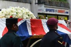 撒切尔男爵夫人的葬礼 免版税库存图片