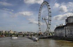 伦敦,英国伦敦眼睛 免版税库存照片