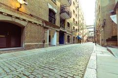 15/10/2017伦敦,英国,在美洲河鲱泰晤士街道上的看法 库存照片