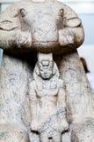 伦敦,英国,大英博物馆埃及人雕象 库存照片