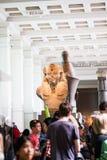 伦敦,英国,大英博物馆埃及人雕象 库存图片
