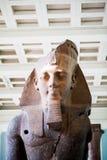 伦敦,英国,大英博物馆埃及人雕象 图库摄影