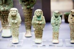 伦敦,英国,大英博物馆-埃及雕象 免版税库存图片