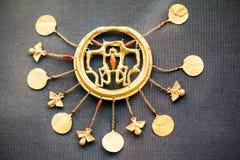 伦敦,英国,大英博物馆 从Grrek铜器时代3200-1100的希腊珠宝BC 免版税库存照片