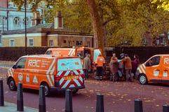 05/11/2017伦敦,英国,布赖顿经验丰富的汽车奔跑的伦敦 库存照片